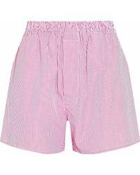 Maison Margiela - Striped Cotton-poplin Shorts - Lyst
