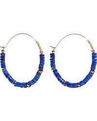 Zimmermann Aloha 14-karat Gold-plated Bead Hoop Earrings Royal Blue