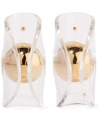 JW Anderson Globe Gold-plated Perspex Earrings Gold - Metallic