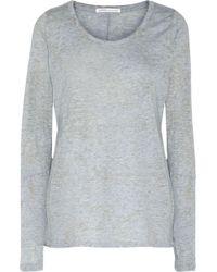 Yummie By Heather Thomson | Mélange Stretch-jersey Pajama Top Sky Blue | Lyst