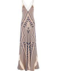 Amanda Wakeley - Beam Printed Silk-chiffon Gown - Lyst