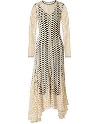 By Malene Birger Dry Desert Asymmetric Cutout Jersey Maxi Dress - Natural