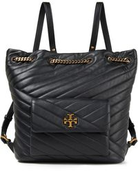 Tory Burch Quilted Leather Backpack - Black