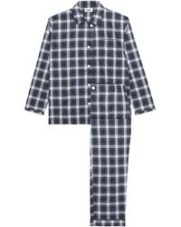 Sleepy Jones Stuart Plaid Cotton-poplin Pyjama Set Forest Green