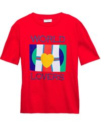 Sandro Marion World Lovers Graphic Tee - Red