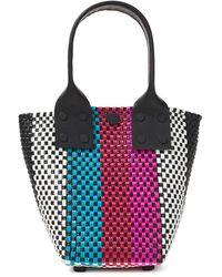 Truss Le Sac Striped Woven Raffia-effect Tote Multicolour