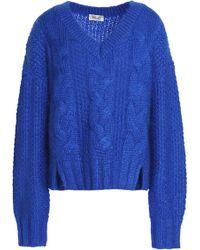 Baum und Pferdgarten - Coralie Cable-knit Mohair-blend Sweater - Lyst