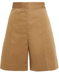 Victoria, Victoria Beckham Cotton-blend Gabardine Shorts - Multicolour