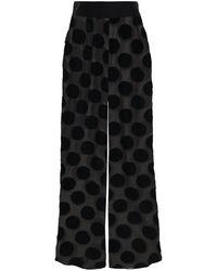 Myla Brick Lane Polka-dot Flocked Tulle Pyjama Trousers Black