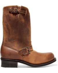 Frye - Engineer 12r Buckled Leather Boots - Lyst
