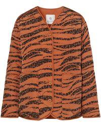 Anine Bing - Elizabeth Quilted Tiger-print Shell Jacket - Lyst
