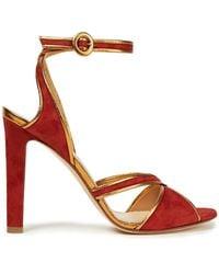 Francesco Russo - Metallic-trimmed Suede Sandals - Lyst
