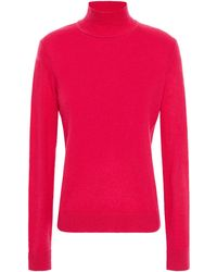 Theory Cashmere Turtleneck Jumper Fuchsia - Multicolour