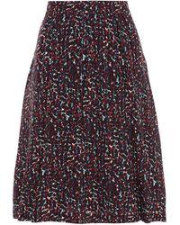 A.P.C. Floral-print Silk-crepe Skirt - Black