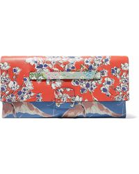 Valentino - Mime Printed Leather Clutch - Lyst