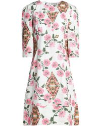 Marni - Printed Cotton-poplin Dress - Lyst