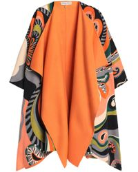 Emilio Pucci - Printed Wool And Cashmere-blend Felt Cape - Lyst