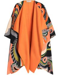 Emilio Pucci Woman Printed Wool And Cashmere-blend Felt Cape Orange