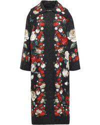Dolce & Gabbana Cotton-blend Brocade Coat Black