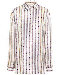 Emilio Pucci Printed Silk-twill Shirt - White