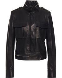 Helmut Lang Textured Leather Jacket - Black
