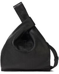 McQ Plath Pebbled-leather Shoulder Bag Black