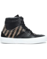 Robert Clergerie - Snake-effect And Smooth Leather Sneakers - Lyst