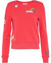 Rebecca Minkoff - Graham Appliquéd Jersey Sweatshirt - Lyst