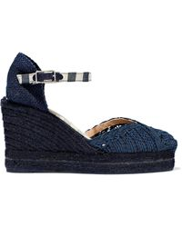 253fa9cb586 Castaner Chiara Canvas Wedge Espadrilles in Yellow - Lyst