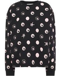McQ Printed French Cotton-terry Sweatshirt Black