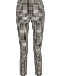 Rag & Bone Simone Cropped Checked Woven Skinny Trousers - Grey