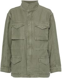 FRAME Cotton-canvas Jacket Army Green