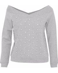 Rebecca Minkoff - Embellished Cotton-terry Sweatshirt - Lyst