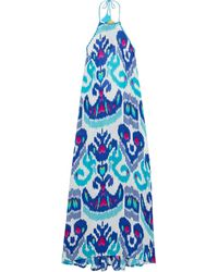 Anjuna Crochet-trimmed Printed Voile Halterneck Maxi Dress - White