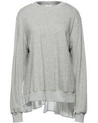 CLU Pleated Shell-paneled French Cotton-terry Sweatshirt - Grey