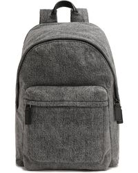 Marc Jacobs Denim Backpack Anthracite - Gray