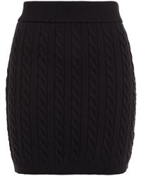 T By Alexander Wang Cable-knit Mini Skirt Black