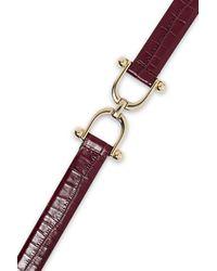 Sandro Carla Croc-effect Leather Belt - Multicolour