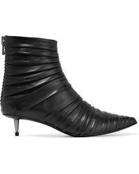 Tom Ford - Ruched Leather Ankle Boots - Lyst