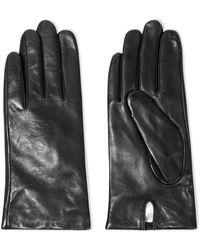 Iris & Ink Celine Leather Gloves - Black