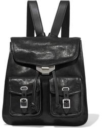Rag & Bone Small Field Textured-leather Backpack Black