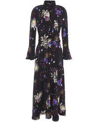 Mary Katrantzou Floral-print Satin Maxi Dress - Black