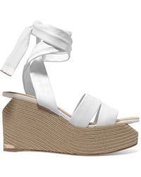 Paloma Barceló - Luise Leather Espadrille Wedge Sandals - Lyst