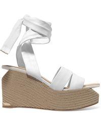 6df804e3c646 Paloma Barceló - Paloma Barceló Woman Luise Leather Espadrille Wedge Sandals  White - Lyst