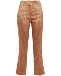 Etro Hose mit schmalem bein aus glänzendem jacquard - Mehrfarbig