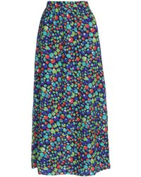 Vanessa Seward - Printed Wool And Silk-blend Maxi Skirt - Lyst