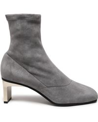 3.1 Phillip Lim - Blade Stretch-suede Sock Boots - Lyst