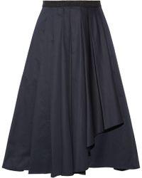 Jason Wu - Knee Length Skirt Midnight Blue - Lyst