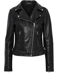 Muubaa Lobelia Leather Biker Jacket Black