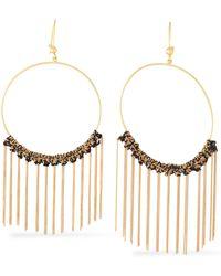 Carolina Bucci - 18-karat Gold And Cord Tasselled Earrings - Lyst